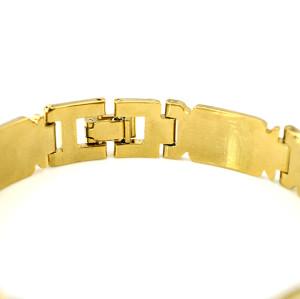 B-0418  New alloy gold twill link chain bangles&bracelets gypsy bracelet men's fashion jewelry gift