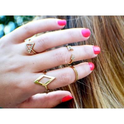 R-1149 European fashion style rhomb triangle arrows diamond ring sets