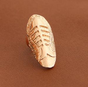 R-1148 Korean-style fish bones fake nails ring fingernail-shaped rings