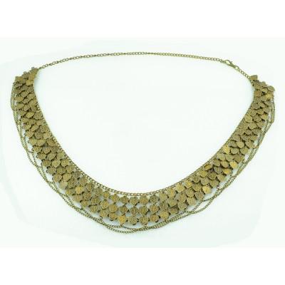 N-5237  Gypsy Bronze Metal  Heart Multilayer  Belly Chain ,Hippie Boho Bohemian Shimmy Belt,belly dance belt chain/body chain/belly chain