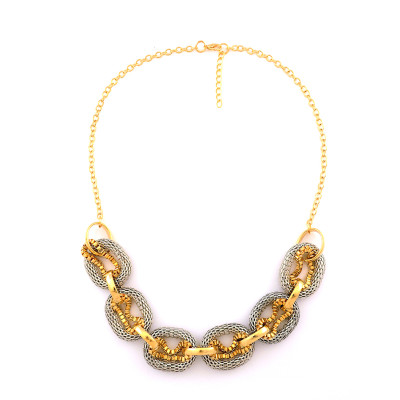 N-5249  European style snake chain circle hoop chain necklace bracelet set B-0439