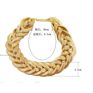 N-5254   new arrival fashion style alloy simple snake chain collar short necklaces
