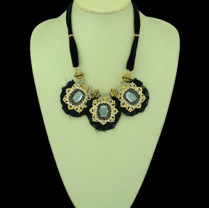 N-5270 new fashion style gold plated rhinestone crystal flower-shaped necklaces sweater chain