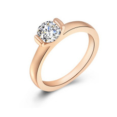 Luxury Brand Austrian Wedding Rings For women Rose Gold Plated Crystal Zircon Ring Jewelry For Women