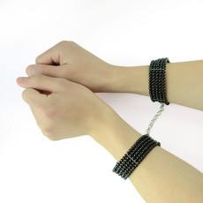 N-1556  2 Colors Pure Copper Five Rows Pearls handcuff Bracelets Set