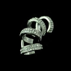 E-3382 Korean Fashion Jewelry Silver Gold Plated Charming Rhinestone Hollow Out Ear Cuff No Pierced Clip Earrings