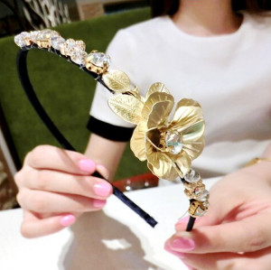 F-0213 Baroque style vintage flowers hair hoop exaggerate headband personality hair jewelry