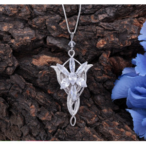 N-5325 New Lord Of The Style Princess Evening Star Pendant Necklace Crystal Twilight Star Chain Statement Necklace