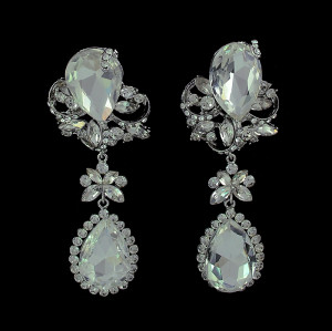 E-3390 European Style design jewelry flower rhinestone big crystal dangle earring