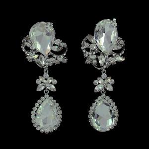 E-3390 European Style design jewelry flower rhinestone big crystal dangle earring