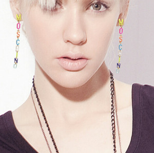 E-3387 European New Fashion Punk Style Colorful Letters Long Earring  Gold Plated Luxury Dangle Earrings For Party Girl