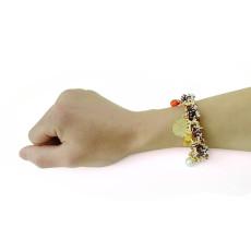 B-0440 fashion style gold plated alloy pearl gem pendant bracelets