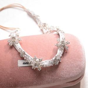F-0218 Korean style handmade clear crystal snowflake flower  headband jewelry women hairband