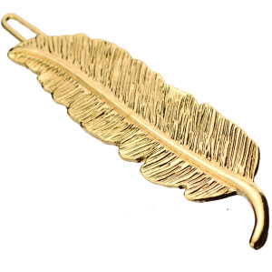 F-0217 European style gold plated leaf simple hairclip