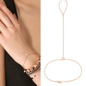 B-0465 Korean fashion style gold plated alloy peach chain bracelets