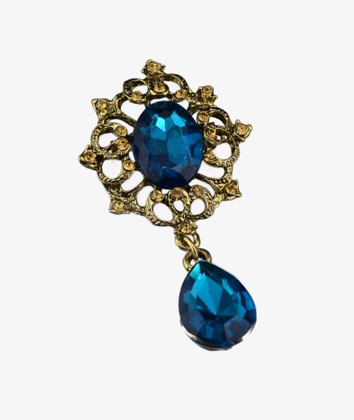 P-0171 fashion style silver plated rhinestone crystal brooch