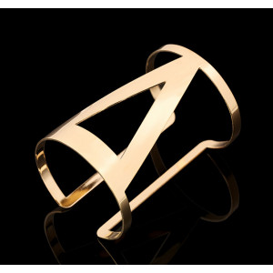B-0449 Punk Style Cuff Bangles Gold Plated Geometry Hollow Out Alloy Metals Bracelet Jewelry Costume Jewelry