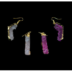 E-3435 European and American new fashion imitated crystal shoes like gold plated exaggerated earrings