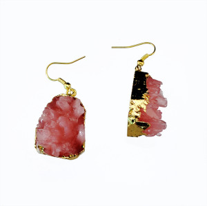 E-3433 fashion style gold plated alloy resin dangle earrings