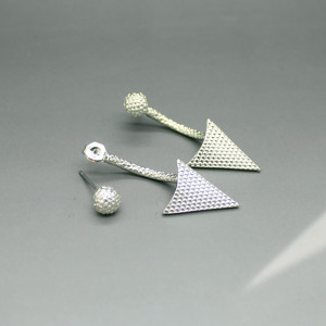 E-3467 fashion style gold/silver plated charm geometric triangle earrings