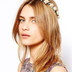 F-0232 fashion style pink rose flower headband fashion jewelry