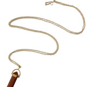 N-5430  New Fashion Colorful Natural Quartzs Stone Pendant Necklace