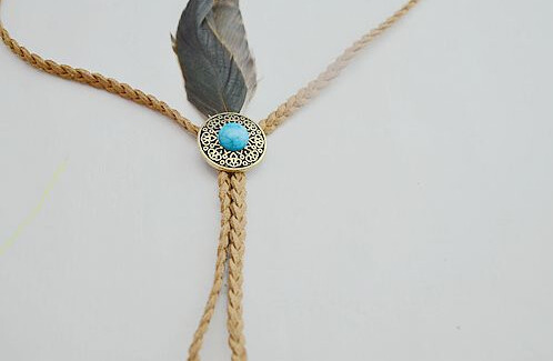 F-0241 European and American original single large hole Turquoise Beads headdress hair accessories