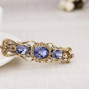 F-0244 fashion style bronze alloy purple crystal hair clip hair accessory