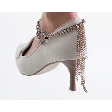 B-0484 European and American fashion simple style metal chain tassel anklets heels Accessories Foot Anklets