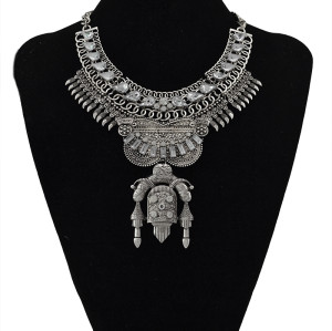 N-5478 2015 European Fashion Style Gold Plated Choker rhinestone Crystal Large Pendant Necklace for Women