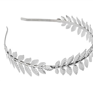 F-0248 European Style White Silver Color Leaves Hairband headdress hair accessories