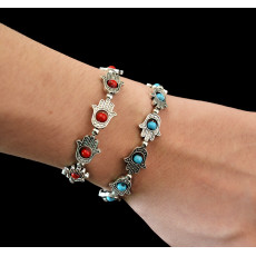 B-0500  New Fashion Style Silver Plated Cute Tiny Hands Beads Bracelets