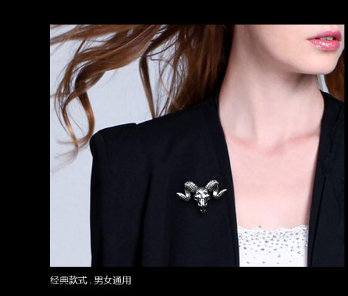 P-0186  New Korea style cavel shape Collar Brooch pin  For men jewelry