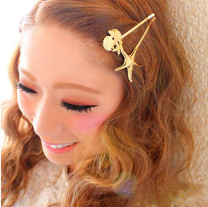 F-0252 New Coming Korea Fashion Style Womens Lovely fishStar shape  Hair Clip