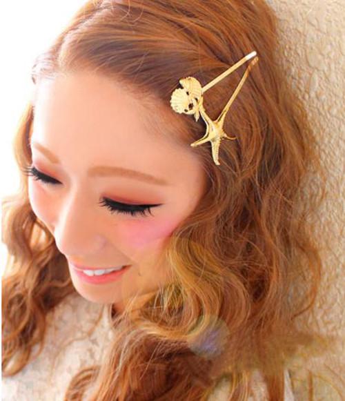 F-0252 New Coming Korea Fashion Style Womens Lovely fishStar shape  Hair Clip