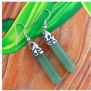 E-3490 Korea Vintage Fashion Water Drop Style Natural Stone Dangle Earrings