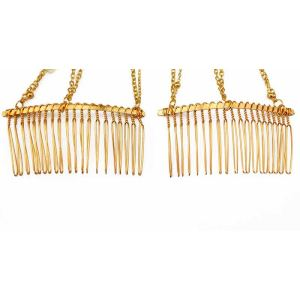 F-0251 Korea Fashion Style Gold Plated Faux Pearl Tassel Hairpin