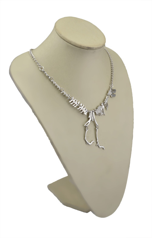 N-5591 * New Fashion Style Gun black Silver Dinosaur Lovely  Pendant Necklace