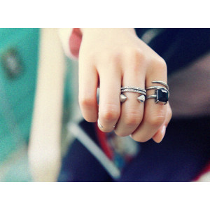R-1219 New Fashion 3PCS/Set Women Punk Style Vintage Gold Silver Charm Crystal Rhinestone Midi Ring Rotating Arrow Knuckle Rings