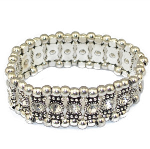 B-0517 Bohemian Boho Style High Quality Multi-color Crystal Alloy Bead Vintage Bracelet for Women