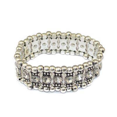 B-0517 Bohemian Boho Style High Quality Multi-color Crystal Alloy Bead Vintage Bracelet for Women