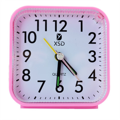 New Fashion Simple Style LED Light 4 Colors Cute Home Bedroom No angular square Clocks