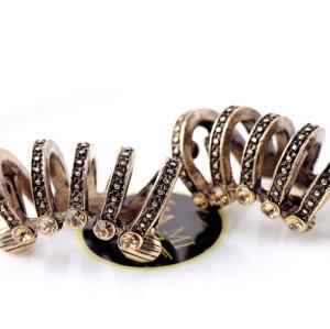E-3513 European and American Fashion Retro Diamond hollow Women Models Personality Ear Clip Jewelry