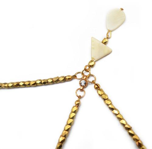 F-0260 European Fashion Style Gold Plated Hairband headdress bowlder hair accessories for women