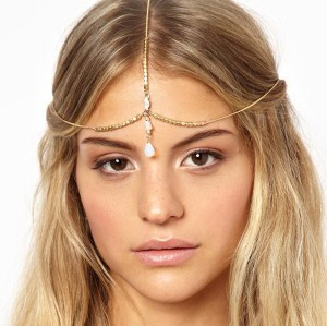 F-0260 European Fashion Style Gold Plated Hairband headdress bowlder hair accessories for women