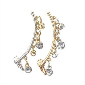 E-3514 European Korean Fashion Style Silver Gold Plated Crystal Ear Cuff