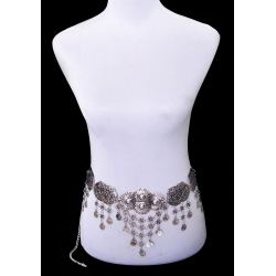 N-5656 2015 Bohemia Fashion Popular Coin Tassel Silver Plated Waist Chain  Women Jewelry