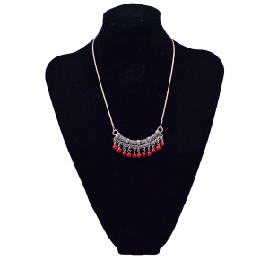 N-5677 Bohemian style silver plated 2colors cute turquoise tassel pendant necklace