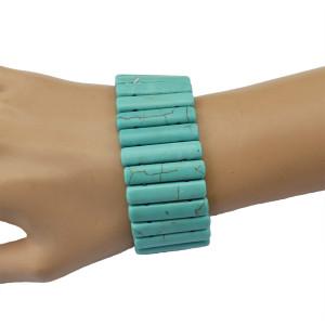 B-0545 New Fashion Bohemian Style Chic Vintage Turquoise  Adjustable Bracelet