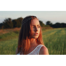 F-0266 Bohemian Style Gold Plated Chain Beads Multilayer Hairband Wedding Headband Hair Accessories Jewelry For Women Headwear